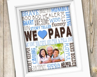 Father's Day Gift ~ Printable Papa Gift From Grandkids ~ Grandpa Birthday Gift From Kids ~ Gramps Grandpa Grandfather ~ Digital Image JPEG