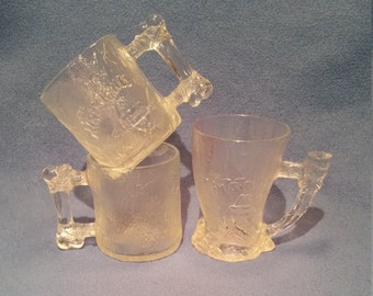 Set of 3 1993 Flintstone McDonald's Glasses