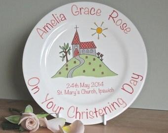 Personalised Christening Plate
