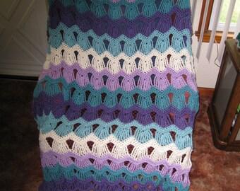Afghan Garden Gate Crocheted