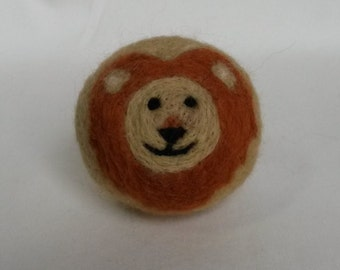 Needle Felted Walforf  Lion Ball Toy