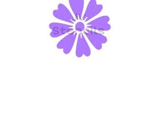 Heart Flower Stencil