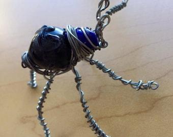 Blue Wire Framed Beetle