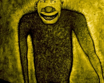 Wall Art, Bigfoot Art, Charcoal Drawing, Art Print, Sasquatch Art, Monster Art, Yeti Art, Dark Art, Horror Art, Drawing & Illustration