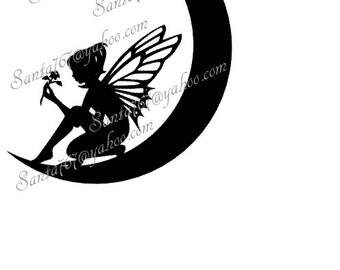 Moon Fairy SVG