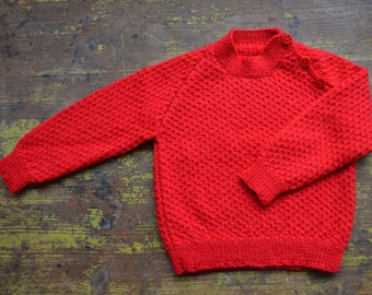 18 month 100% Merino wool hand knitted jumper