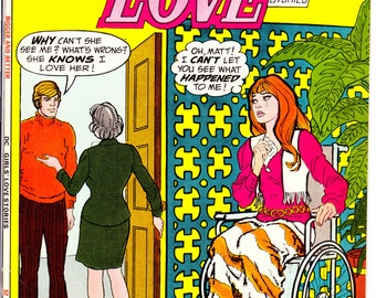 Girls Love Stories 166, Wedding, Romance comic, Young Look. Love. Romantic book, Glamour, Style, Fashion Giant.  1972 DC Comics in VF+ (8.5)