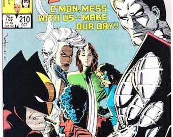 X-men 210, Sabertooth comic book, Xmen, Rogue, Storm, Mutant Massacre, Uncanny, Wolverine,  Marvel Comics, 1987. Choose FVF or NM- (9.2)