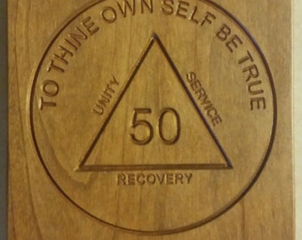 AA Medallion recovery plaque