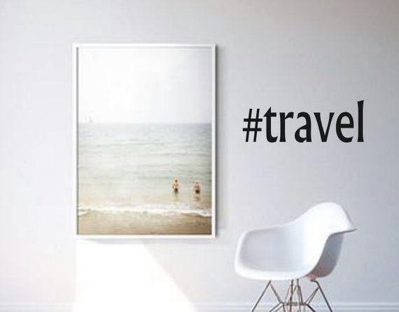 Hashtag travel wall decal wall art home decor by for Decor hashtags