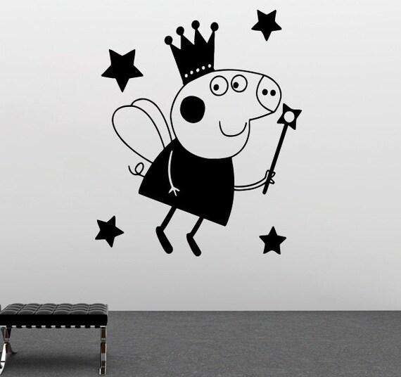 Peppa Pig Wall Vinyl Decal Peppa Wall Vinyl Sticker Cartoon