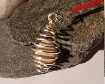 Pebble Wire Pendant