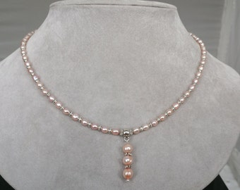 Freshwater Pearl Necklace & Earring Set