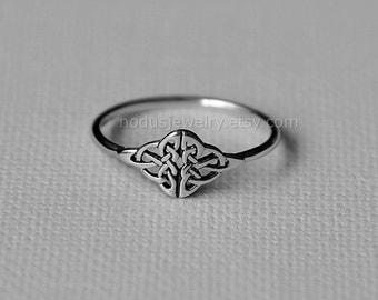 Celtic knot ring, sterling silver ring, celtic ring, knot ring, infinity ring, infinity celtic knot ring, infinity knot, celtic jewelry