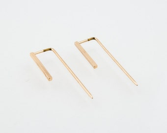 Gold Plated Tabular Earring
