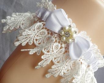 Wedding Garter Lingerie Garters Bridal Garters Venice Wedding Lace bridal accessories ivory garter bridal garters sale venice lace garters