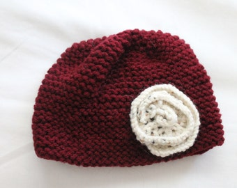 Newborn Hat with Rose
