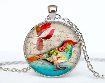 Bird necklace Bird pendant Bird jewelry