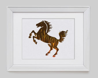 Horse cross stitch pattern, horse counted cross stitch pattern, horse modern cross stitch pattern, horse counted cross stitch pdf pattern