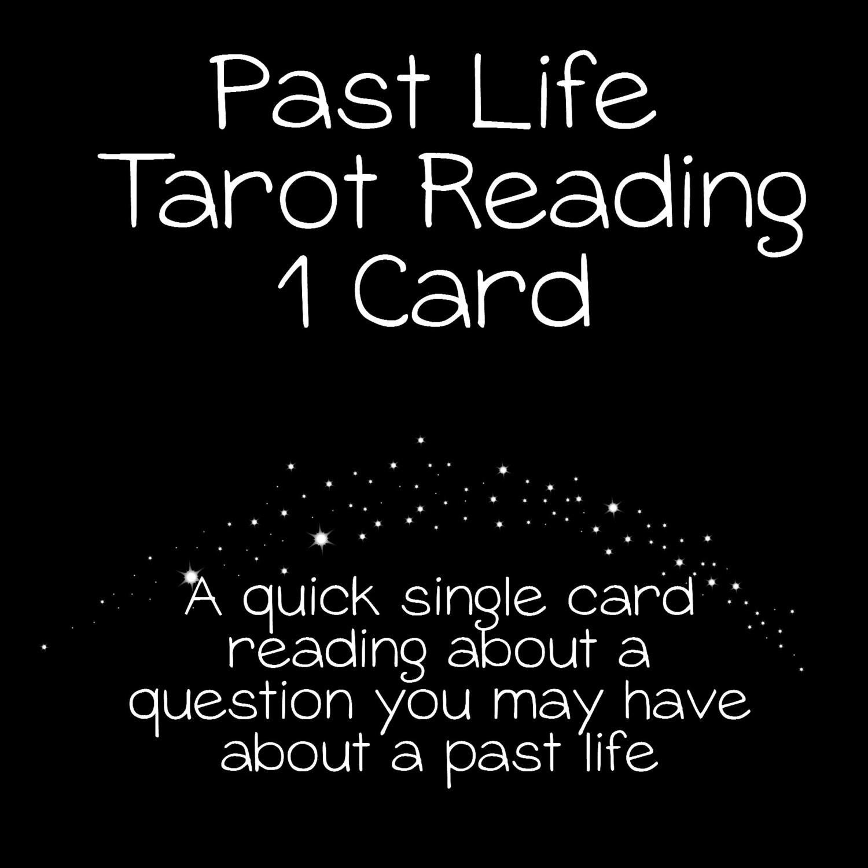 Past Life Reading Single Card Tarot Card By MagickalReadings1