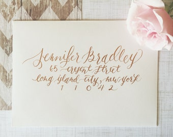 KENSINGTON Layout / Wedding Calligraphy Envelope Addressing / Hand Written / Tier 2 Layout