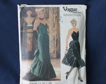 Evening Gown Vogue Designer Original 1471 Bellville Sassoon Pattern Size 12 Used