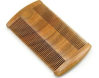 """Anti Static Natural Green Sandalwood Fine Tooth Comb, Pocket Wooden Comb 4"""""""
