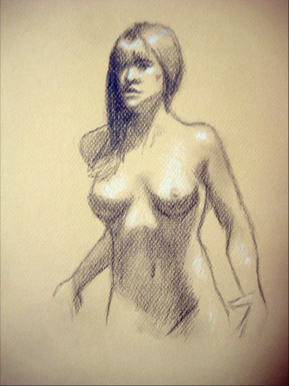 Nude Model Figure Drawing 21