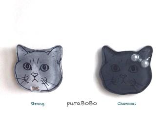 British Short Hair Cat Handmade earring / ring by puraBoBo