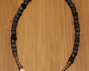 Mixed media boho necklace