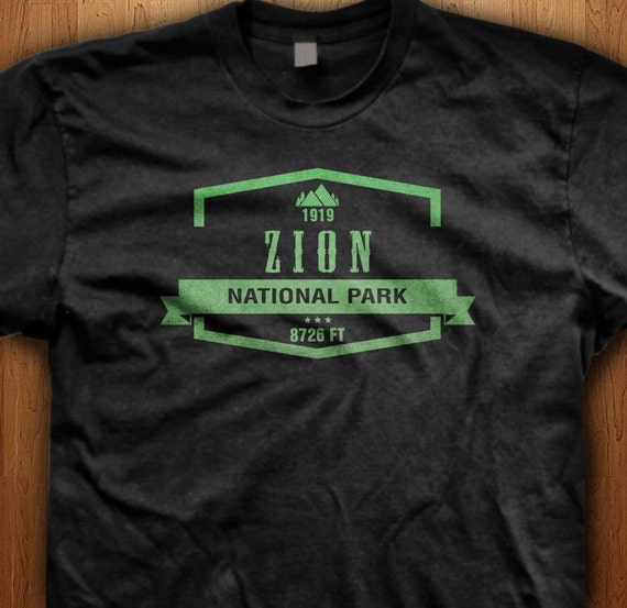 Zion National Park Utah America T Shirt State Park Gift Hiking