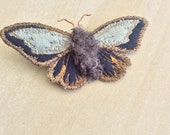 Blue Moth Brooch