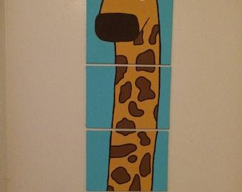 Four-Piece Giraffe Canvas