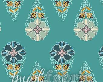 Knit Fabric - Fantasia Krokos Sprites Teal - Fat Quarter Yard +