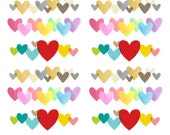 Heart border stickers (Set 4- MIXED)  (planner stickers)