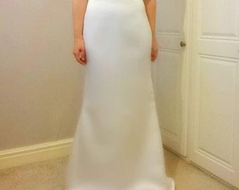 Bespoke Satin Fitted Mermaid Wedding Dress with Fully Embellished Bodice