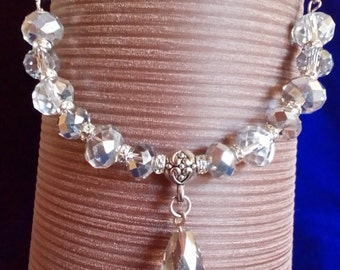 Sparkly bead and chain necklace