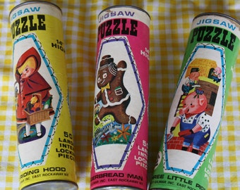 Vintage HG-Toys Fairy Tale Puzzles 50 pieces