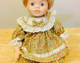 "Vintage 12""  Porcelain Doll From 1980's"