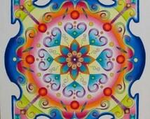 Vibrant Zentangle