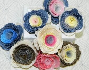 Fabric Flower Pins