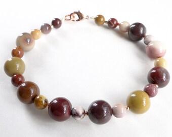 Mookaite jasper bracelet, Mooklite beads.