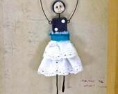 Mixed Media Domino Art Doll