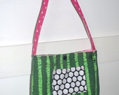 Toddler Tote Little Girls Purse - Watermelon Green with PInk