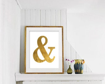 Ampersand Wall Decor gold ampersand | etsy
