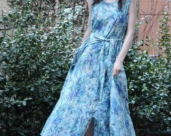 Women's maxi print dress