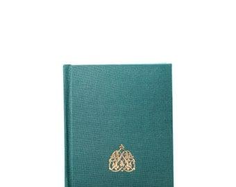 Teal Gilded Hardbound Blank Book