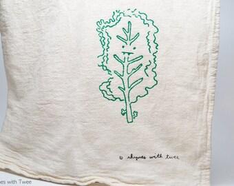 Kale Kitchen Towel, Pippi Kale Veggie Vampire