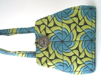 blue tote bag, womens handbag, blue purse, shoulder bag, fabric handbag, diaper bag, carry on bag, fabric tote bag