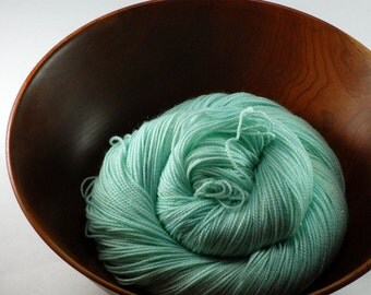 Hand Dyed Sparkle Sock Yarn - Snow Queen